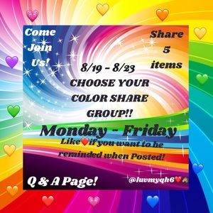 Other - 💗Color Share Group Q&A Listing!💙